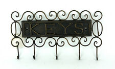 French provincial Iron Key Holder Rack 5 Hook Home Decor 28x15cm