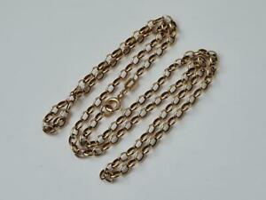 9 ct / 375  Yellow Gold Oval Link Chain / 52.5 cm / 7.7 g.