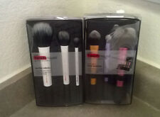 Real Techniques Makeup Brushes Travel Kit Essentials & Duo-Fiber Collection Set