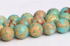 6MM Natural Faint Blue Sea Sediment Imperial Jasper AAA Round Loose Beads 15