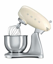 SMEG Cream SMF01CRUK Retro 50s Stand Food Mixer Whisk Hook 3 Year Guarantee