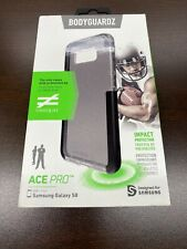 BodyGuardz Ace Pro Black Transparent Case for Samsung Galaxy S8 - Drop Tested