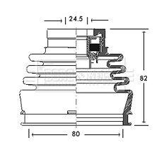 Borg & Beck Driveshaft Bellow CV Joint Boot Kit BCB2768 - 5 YEAR WARRANTY