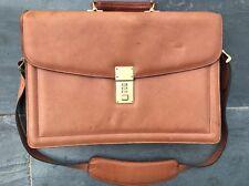 Genuine Leather Jack George's Briefcase Carrying Handbag Laptop