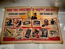 1950 Two Page HOPALONG CASSIDY Advertisement Magazine Product Ad