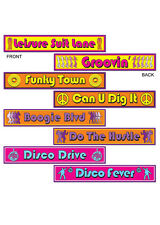 70s Disco Street Signs Party Decorations Pk4