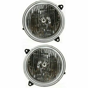 FOR JEEP LIBERTY 2002 2003 2004 HEADLIGHTS RIGHT & LEFT PAIR