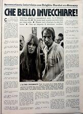 BRIGITTE BARDOT => COUPURE DE PRESSE ITALIENNE 1 PAGE 1977 //  CLIPPING