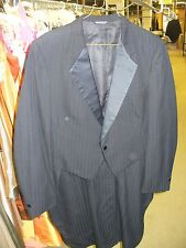 Zombie Clothing -Tailcoat Black ON bLACK sHADOW sTRIPE nOTCH Lapel - 8 YEAR