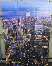 New York Scene Trypitch  169cm x 39cm on Wooden Stretcher Frame set of 3(c)