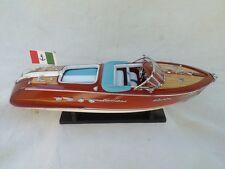 "Riva Aquarama 17"" White-Blue Seat High Quality Model Boat L45 Free Shipping"
