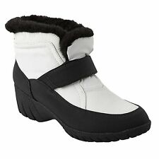 Wanderlust ELOISE Womens Black White Warm Lined Water Resistant Ankle Boots