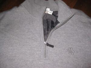 Men's Fairway & Greene Wool Lined 1/4 Golf Vest - Erin Hills - Grey - Used - XXL