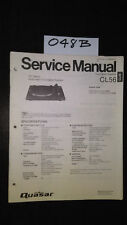 Quasar CL56 service manual stereo turntable record player original repair book