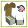 (50) BCW 100 Count White Corrugated Cardboard Baseball Trading Card Storage Box