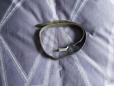 Used Men's Leather Belt. Black 1 1/4 Inch Wide. 32 Inch Waist. Multiple Holes.