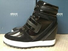 Armani Jeans ZEPPA women's wedge high-top sneakers size 6.5UK(40EU)
