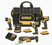 DEWALT 5-Tool 20-Volt Max Brushless Power Tool Combo Kit with Soft Case