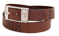 Texas A&M NCAA Brandish Leather Belt - Brown - Brand New - FREE SHIPPING!