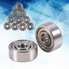10x 623ZZ 3x10x4mm Bearing Miniature Ball Double Shielded Radial Bearings Silver
