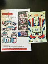 DECALS 1/24 FORD ESCORT WRC CUNICO RALLYE SAN REMO ITALY 1997 RALLY WRC HASEGAWA