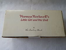 The Danbury Mint Norman Rockwells Little Girl and Her Doll-Nib