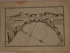 CARTE MARINE XVIII° SIECLE JOSEPH ROUX 1764 PORT DE ZANTE ZAKYNTHOS GRECE