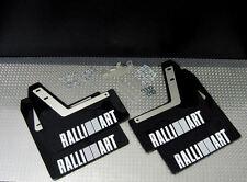 Rallyflapz Kaylan mudflaps Mitsubishi Evo 7, 8, 9 Negro + Blanco Ralliart logotipo