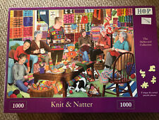 HOP jigsaw Puzzle, Knit and Natter - 1000 Pieces.