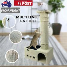 91CM Cat Tree Scratching Post Scratcher Pole Gym House Furniture Multi Level