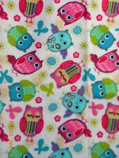 OWLS in happy Spring Colors small Pillow Case & 1 WHITE Travel Pillow