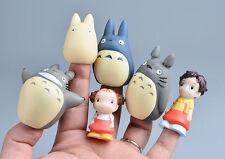 6pcs new Cute STUDIO GHIBLI My Neighbor Totoro Figure Doll Finger Puppets New