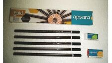 100x Apsara GOLD HB Pencil | Black and Golden look | school office home use