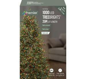 Premier Christmas 25M TREEBRIGHTS 1000 Multi-Action LEDs Multicoloured LV162179M