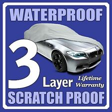 3 Layer Car Cover Breathable Waterproof Layers Outdoor Indoor Fleece Lining Fia1