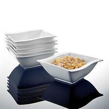 MALACASA 6-pieces Ceramic Cereal Bowl Porcelain China Crockery Dinner Set Cream