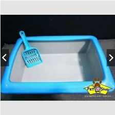 Cat Litter Box with Free Scooper! 1pc - Blue