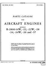 Pratt & Whitney R-2800 Double Wasp parts service manual historic very rare 1945