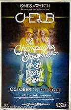 """CHERUB """"CHAMPAGNE SHOWERS TOUR"""" 2014 SAN DIEGO CONCERT POSTER - Electro Indie"""