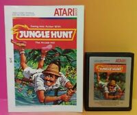 Atari 2600 Jungle Hunt Game & Instruction Manual Tested Works Rare