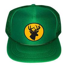 Kid's Green Hunting Deer Buck Youth Snapback Mesh Trucker Hat Cap Hunt