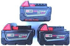 (3) New 18V Milwaukee 48-11-1850 5.0 AH Batteries M18 18 Volt XC 5.0 48-11-1852