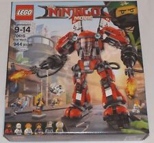 LEGO Ninjago Movie FIRE MECH 70615 Kai Zane Hammer Head IN HAND!! BNIB sealed
