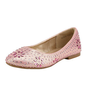 Kids Girls Slip-On Shoes Children Party Dress Dance Shoes Flat Shoes Size IVORY