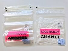 5 CHANEL READY TO WEAR ZIPLOCK SWEATER SCARF TIGHTS STORAGE PLASTIC POUCHES BAG
