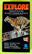 Minolta Maxxum Series 3xi ~ VHS Movie Video ~ Rare Vintage Xi Camera Photography