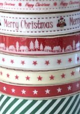 Bundle of Bertie's Bows Festive Christmas Grosgrain Ribbon 21m gift wrap craft