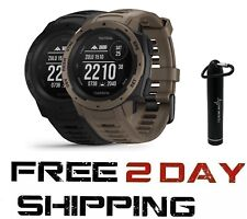 Garmin Instinct Tactical GPS Watch W Wearable4U Power Bank 2200mAh
