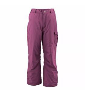 White Sierra Girls Cruiser Insulated Pants Ski Snow Cargo Winter Size L