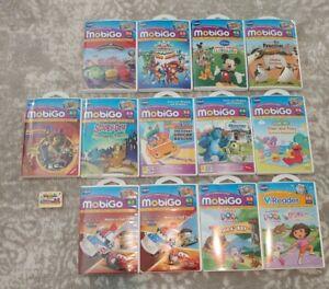 Vtech Mobigo Games Lot Of 14 Disney, Dora, Cars, Marvel, Etc. Game Packs